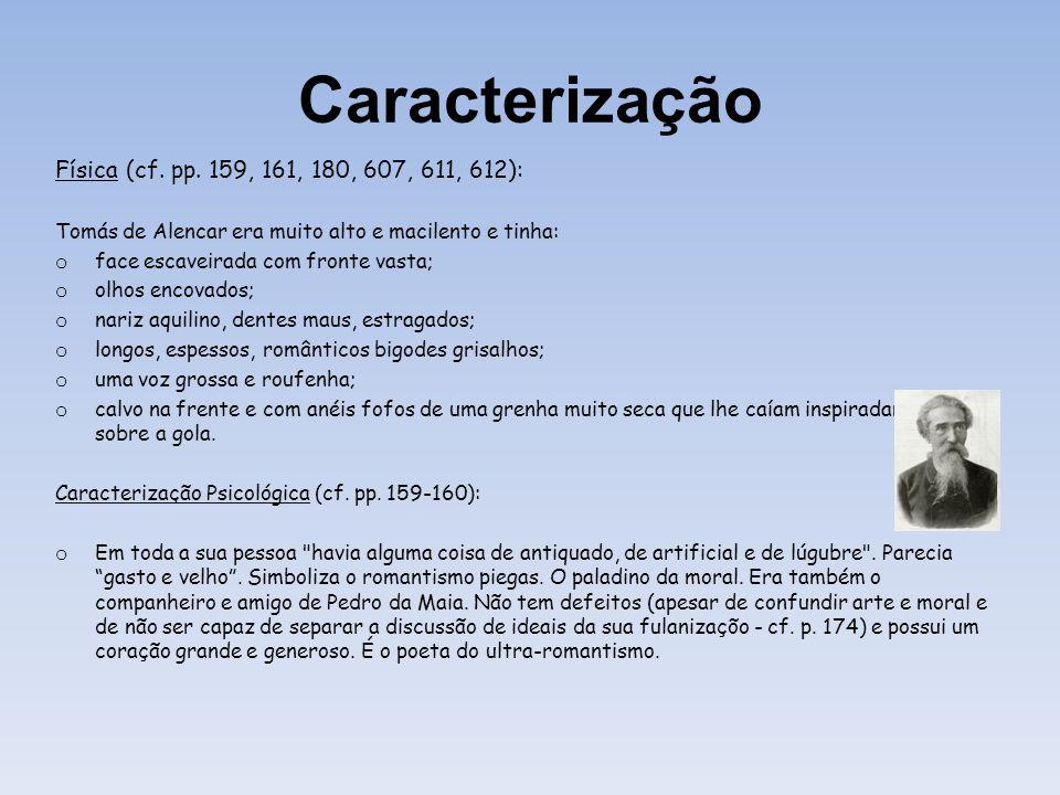 Caracterização Física (cf. pp. 159, 161, 180, 607, 611, 612):