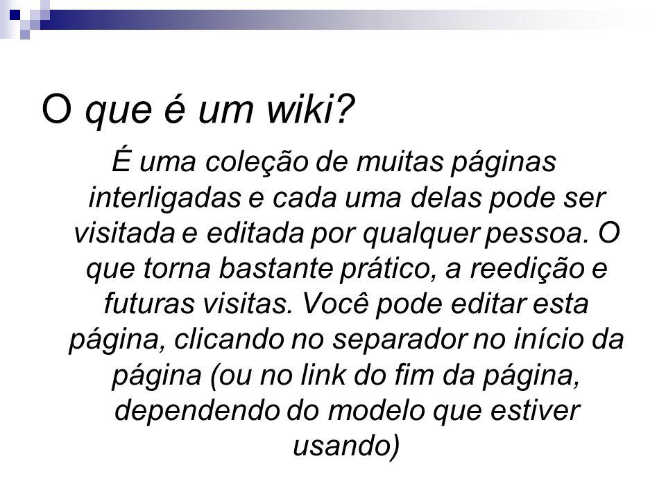 O que é um wiki