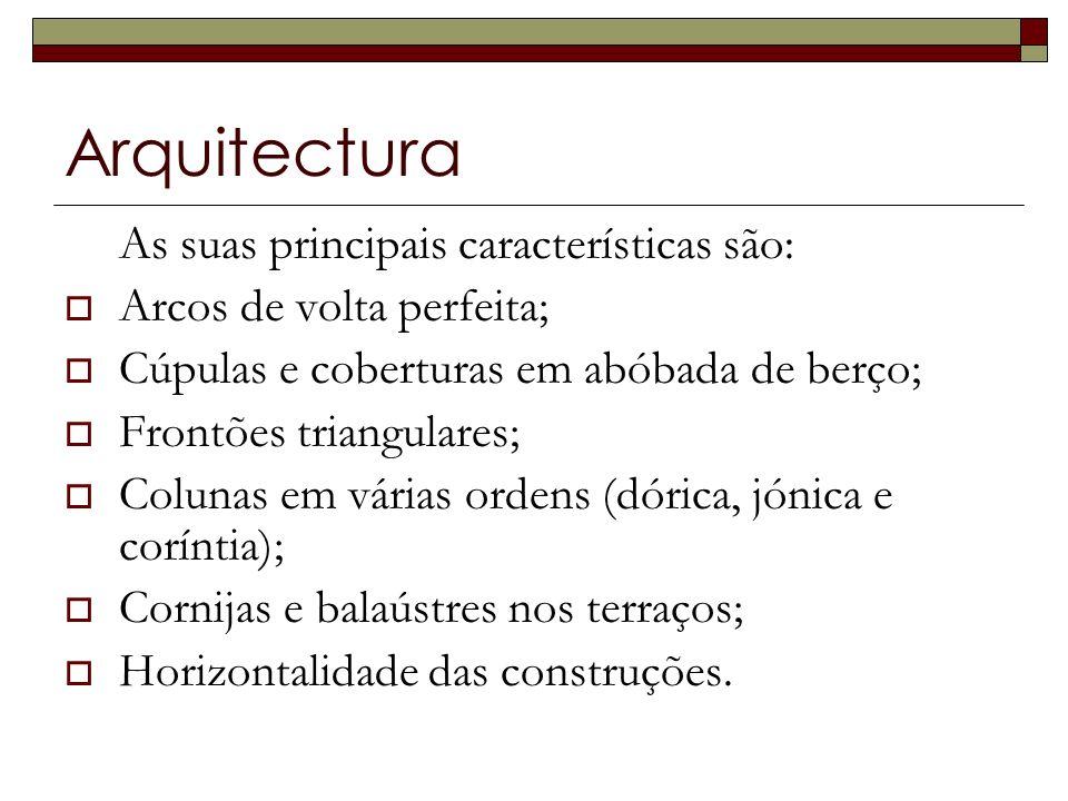 Arquitectura As suas principais características são: