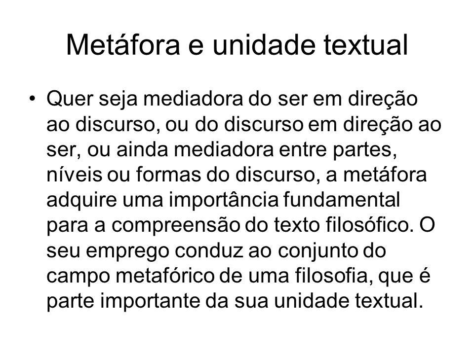 Metáfora e unidade textual