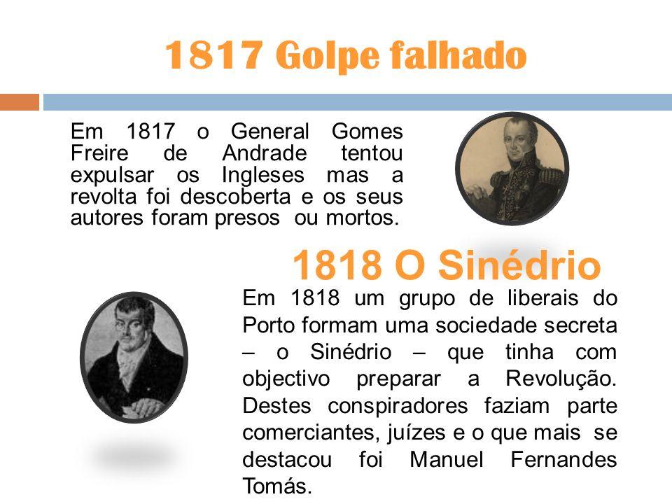 1817 Golpe falhado 1818 O Sinédrio