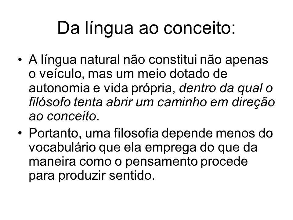 Da língua ao conceito: