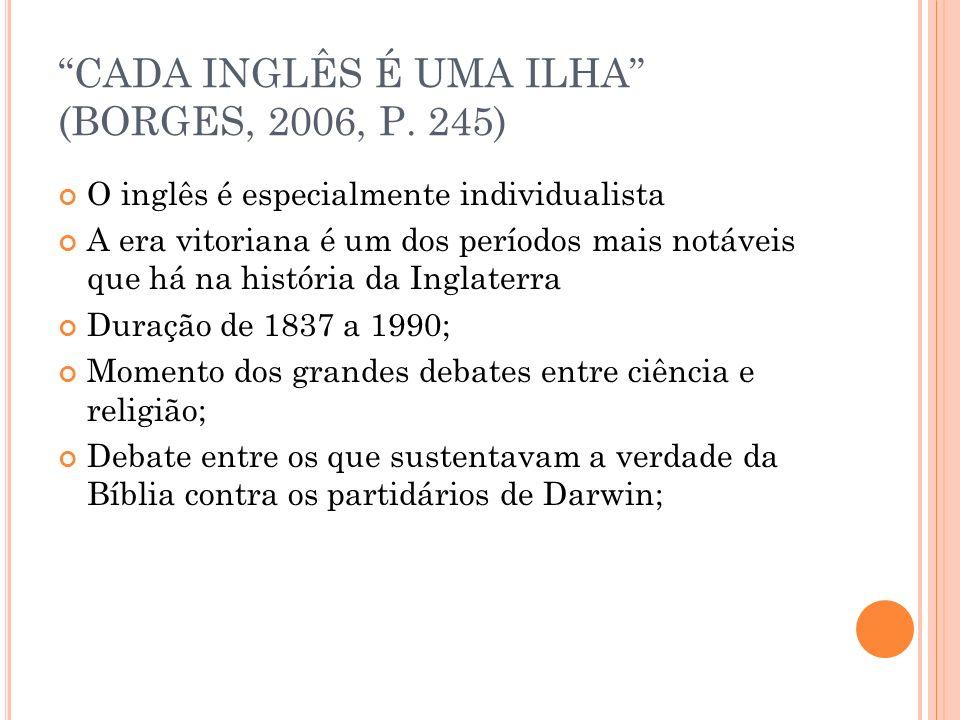 CADA INGLÊS É UMA ILHA (BORGES, 2006, P. 245)