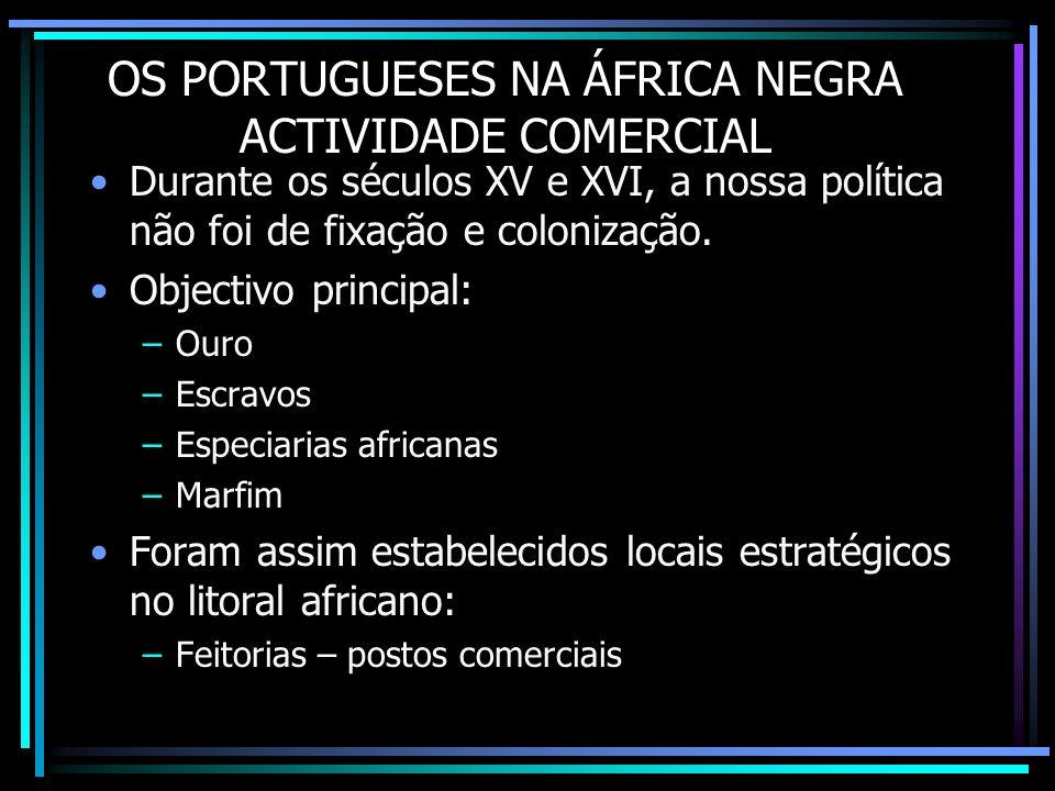 OS PORTUGUESES NA ÁFRICA NEGRA ACTIVIDADE COMERCIAL