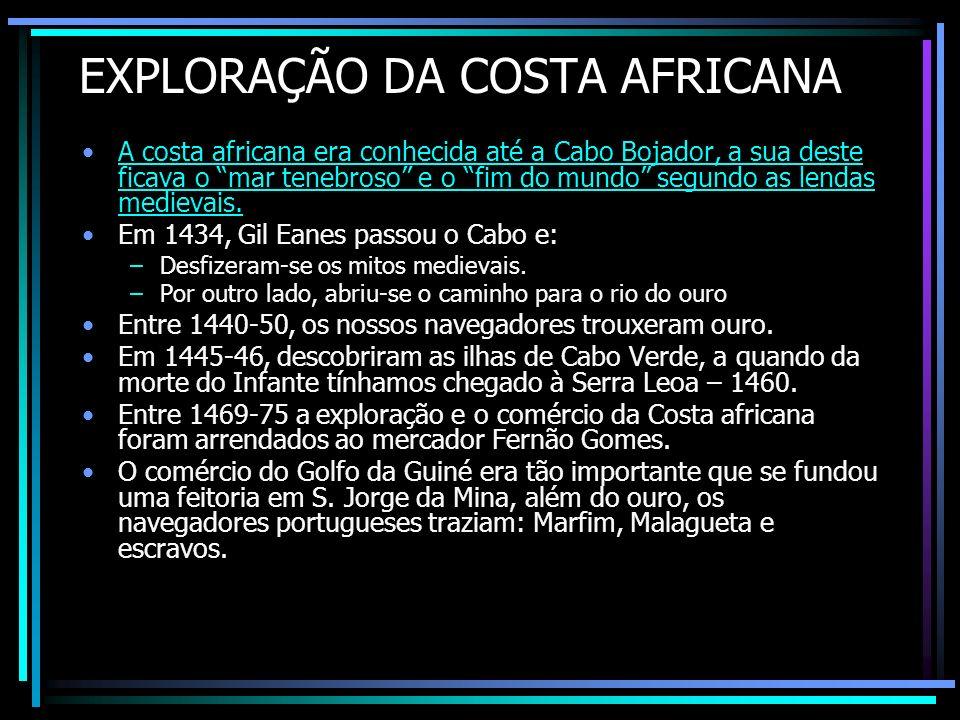 EXPLORAÇÃO DA COSTA AFRICANA