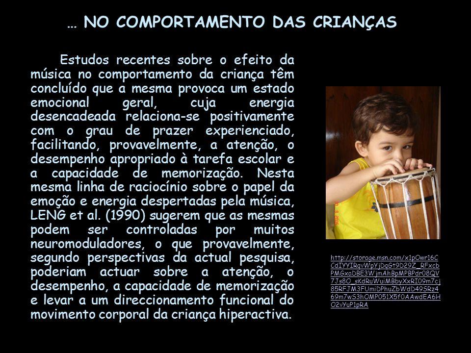 … NO COMPORTAMENTO DAS CRIANÇAS