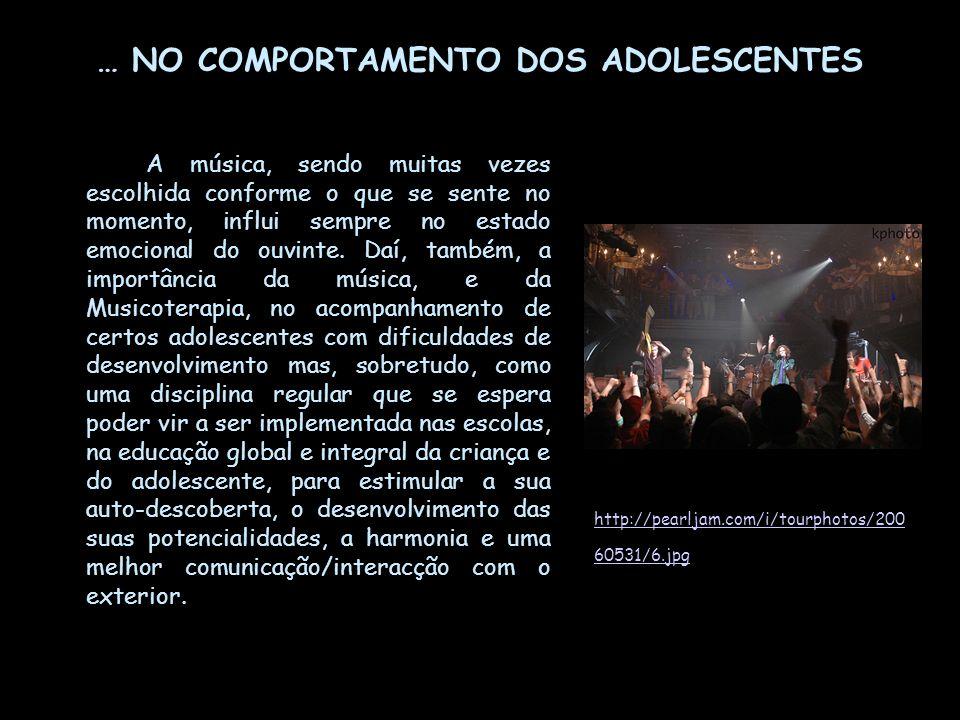 … NO COMPORTAMENTO DOS ADOLESCENTES