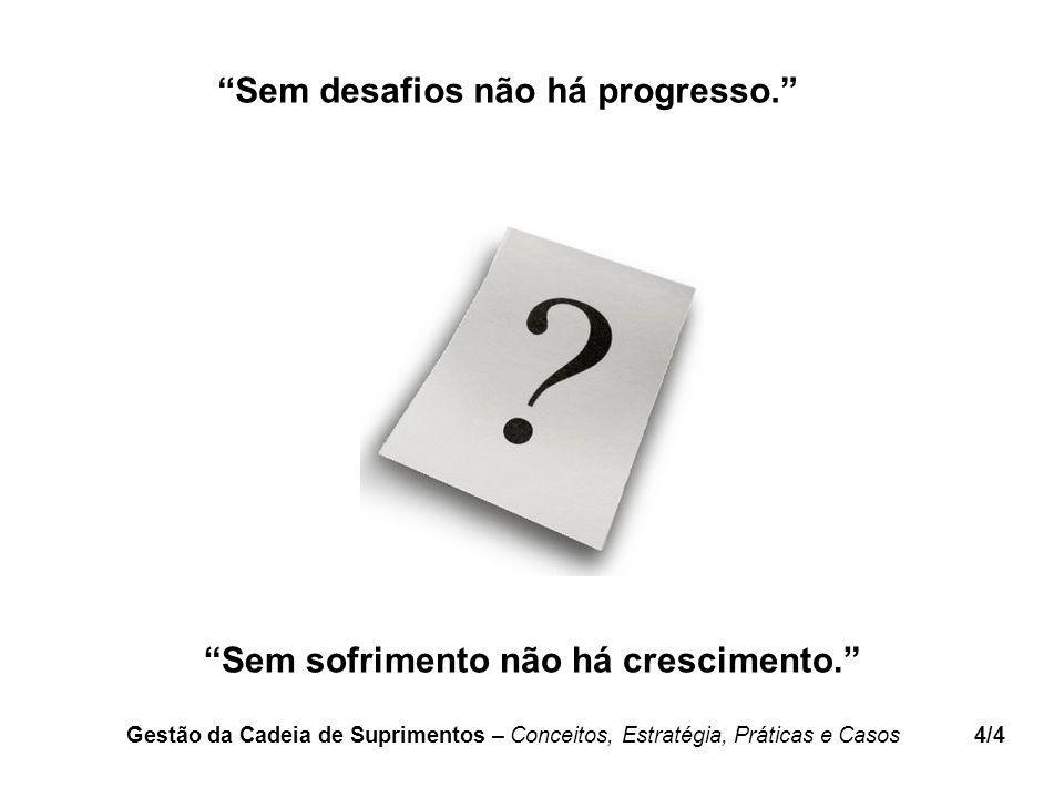 Sem desafios não há progresso.