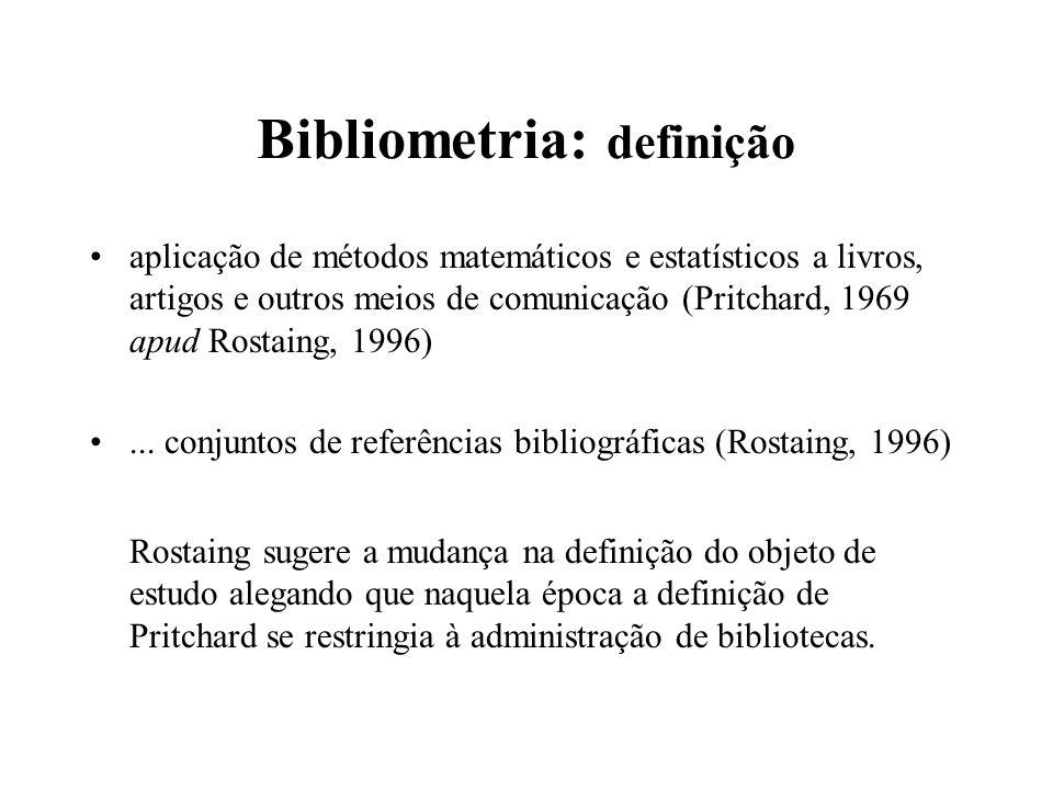 Bibliometria: definição