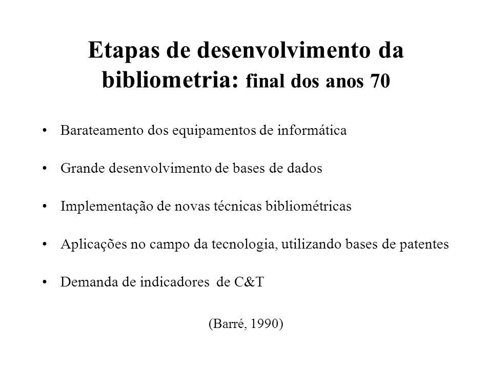 Etapas de desenvolvimento da bibliometria: final dos anos 70