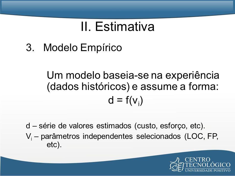 II. Estimativa 3. Modelo Empírico