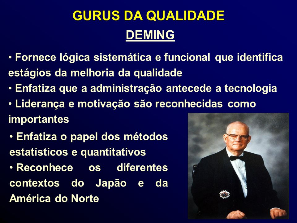 GURUS DA QUALIDADE DEMING