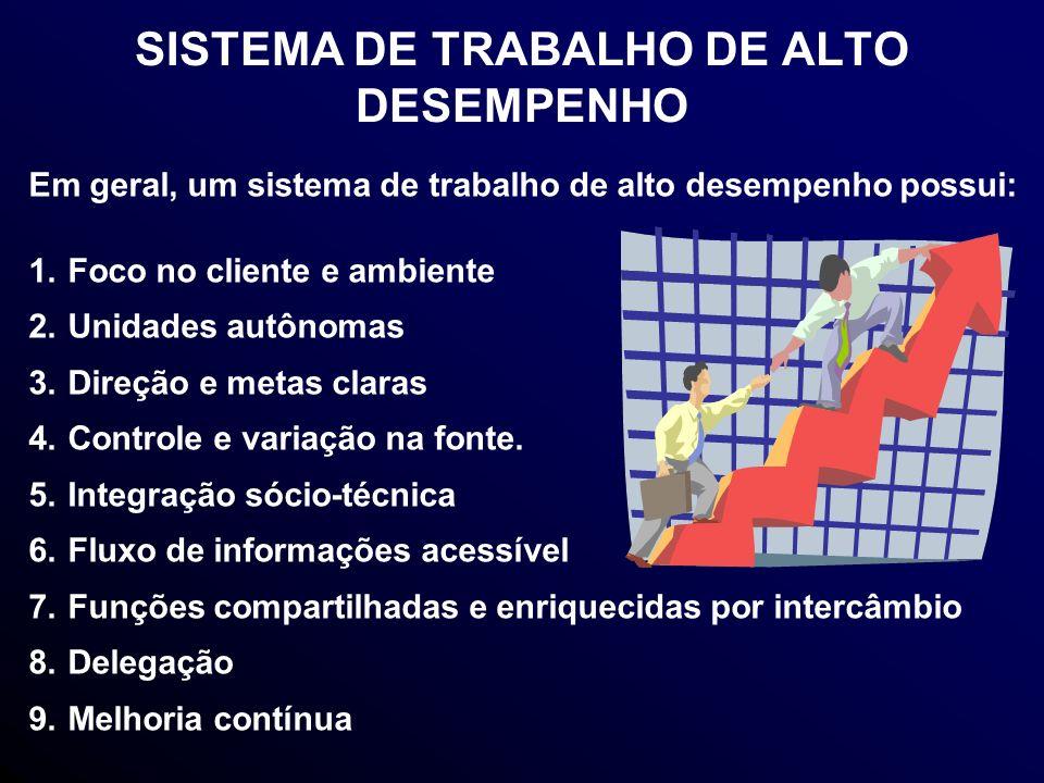 SISTEMA DE TRABALHO DE ALTO DESEMPENHO