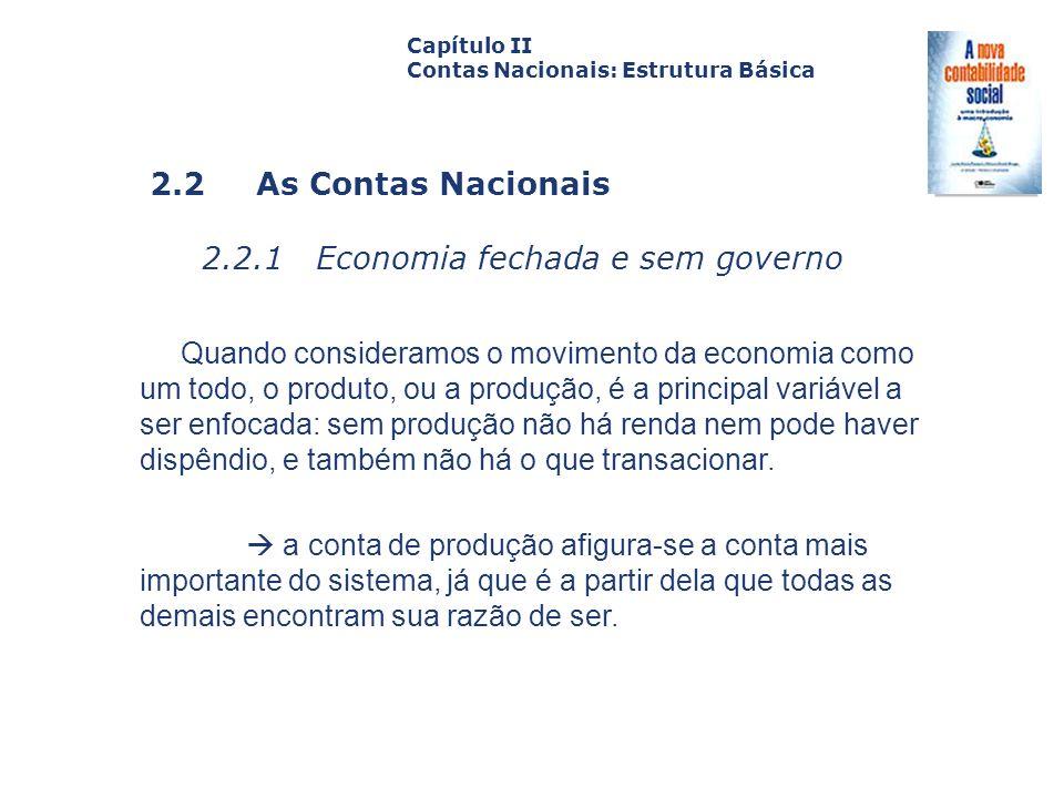 2.2.1 Economia fechada e sem governo