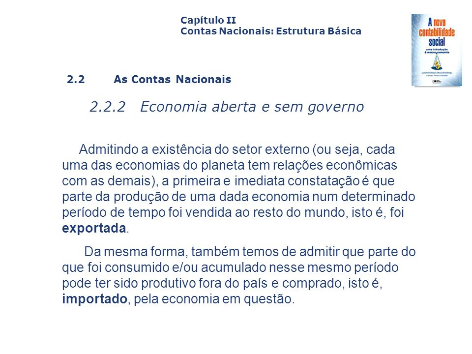 2.2.2 Economia aberta e sem governo