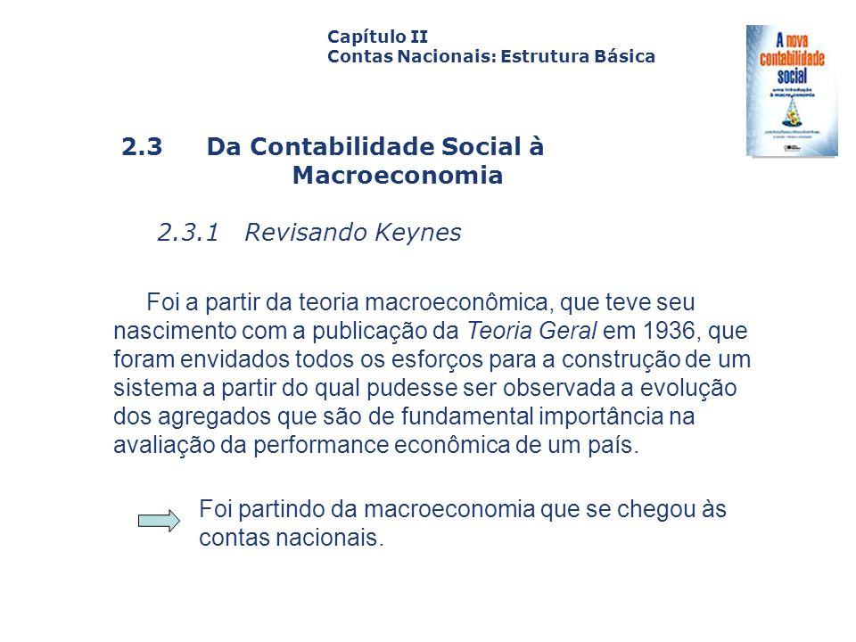 2.3 Da Contabilidade Social à Macroeconomia