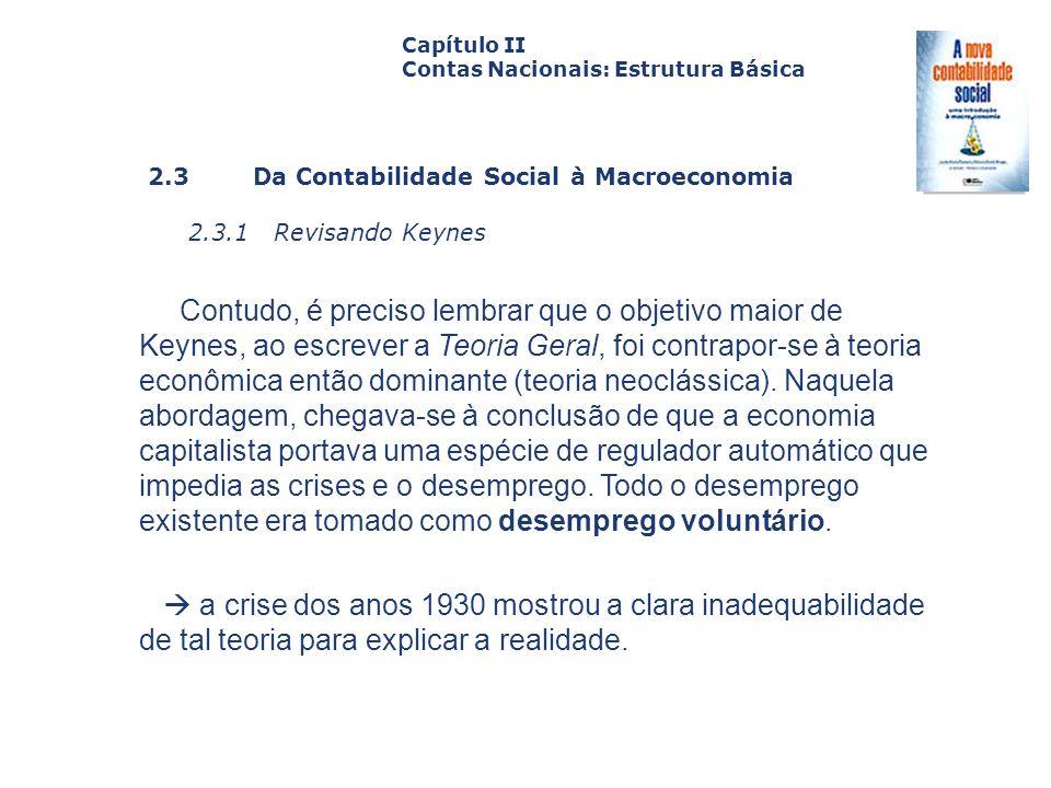 Capítulo II Contas Nacionais: Estrutura Básica. Capa. da Obra. 2.3 Da Contabilidade Social à Macroeconomia.