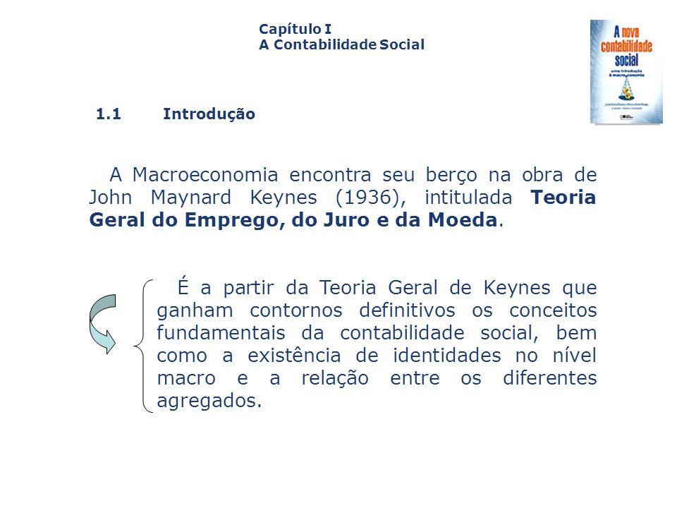 Capítulo I A Contabilidade Social. Capa. da Obra. 1.1 Introdução.