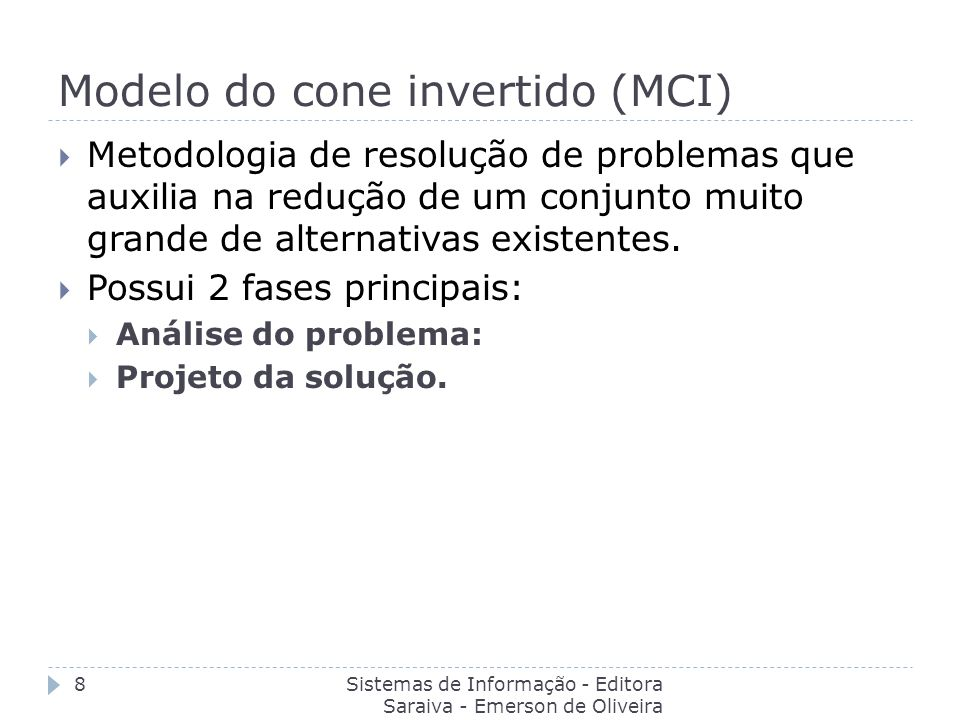Modelo do cone invertido (MCI)