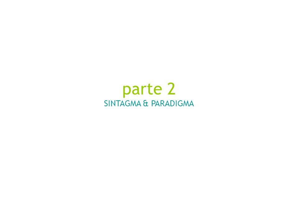 parte 2 SINTAGMA & PARADIGMA