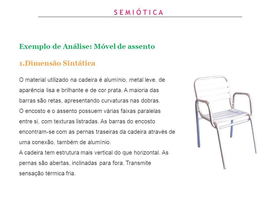Exemplo de Análise: Móvel de assento Dimensão Sintática