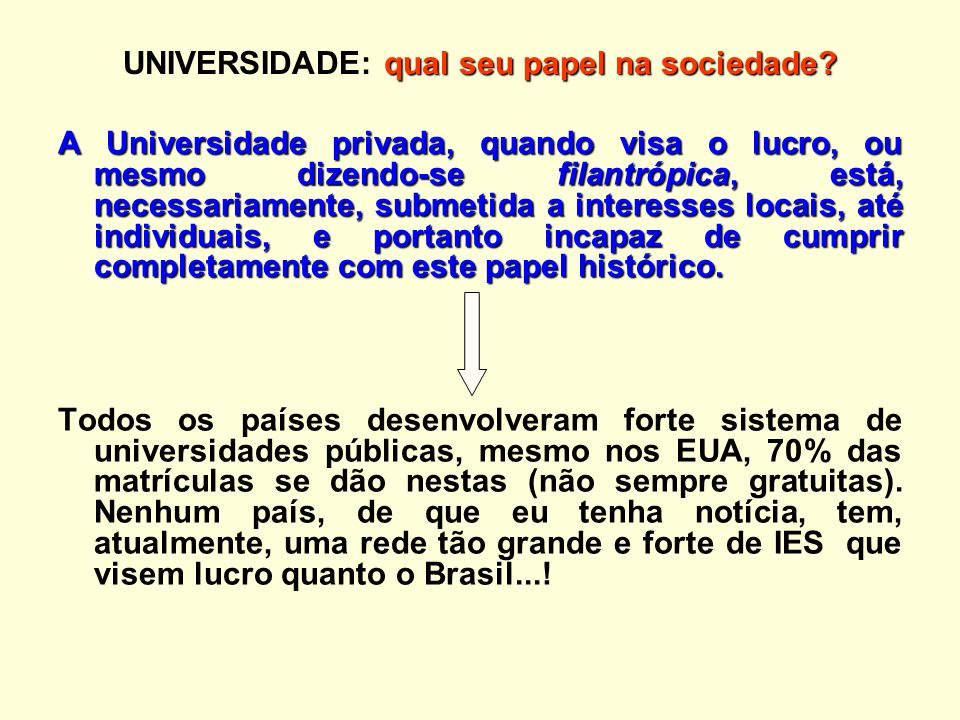 UNIVERSIDADE: qual seu papel na sociedade