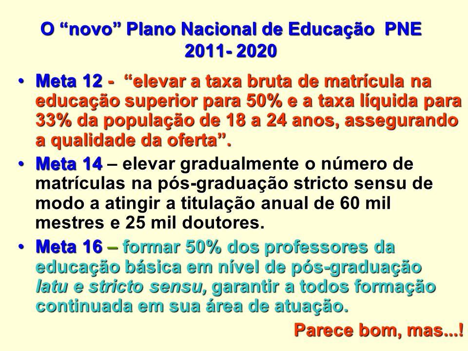 O novo Plano Nacional de Educação PNE 2011- 2020