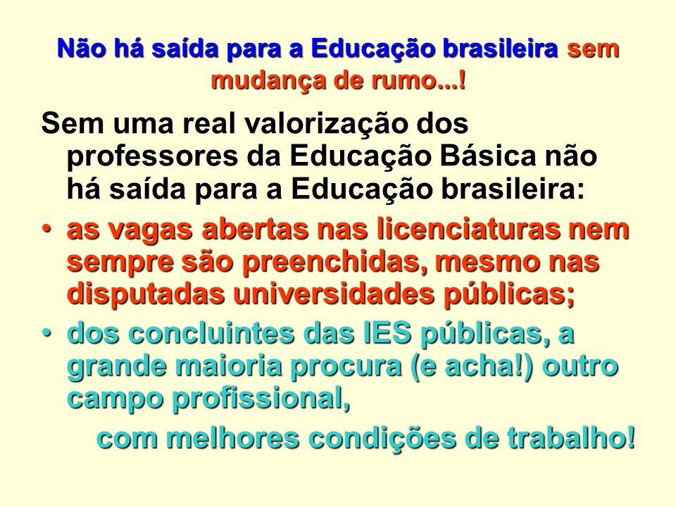 Não há saída para a Educação brasileira sem mudança de rumo...!