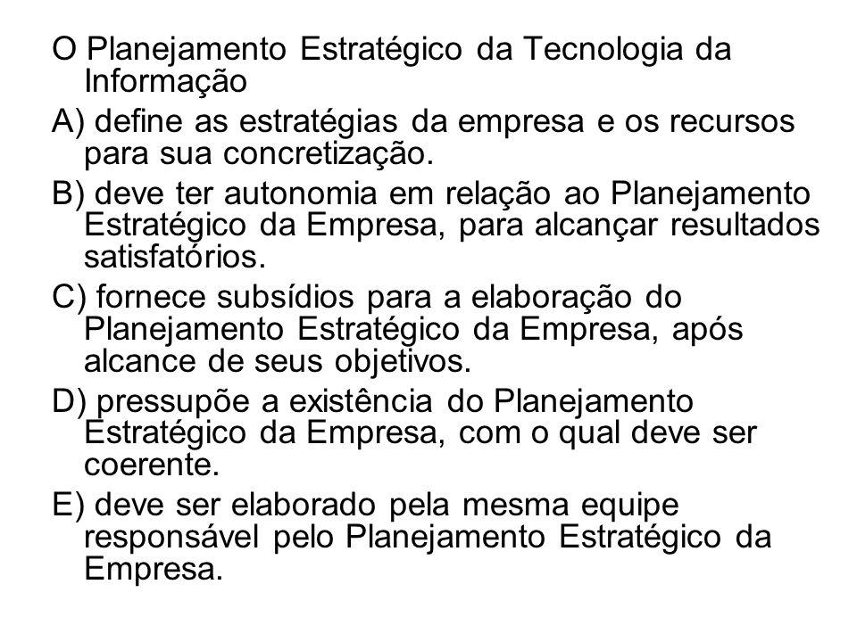 O Planejamento Estratégico da Tecnologia da Informação