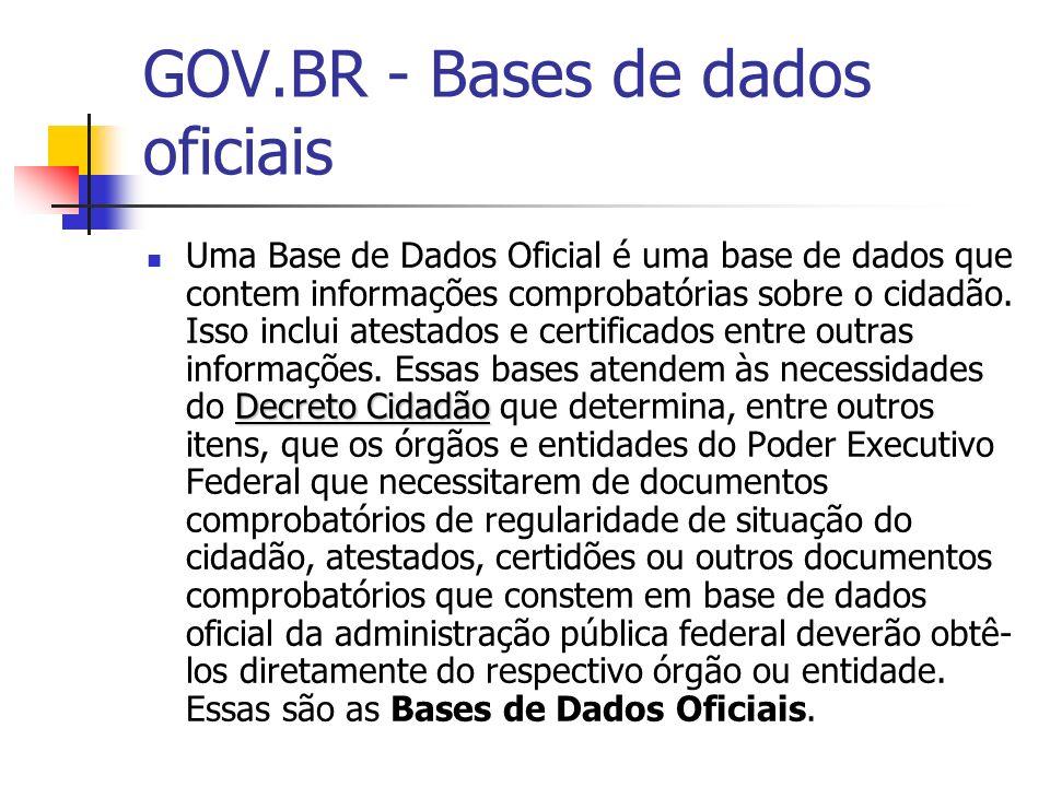 GOV.BR - Bases de dados oficiais