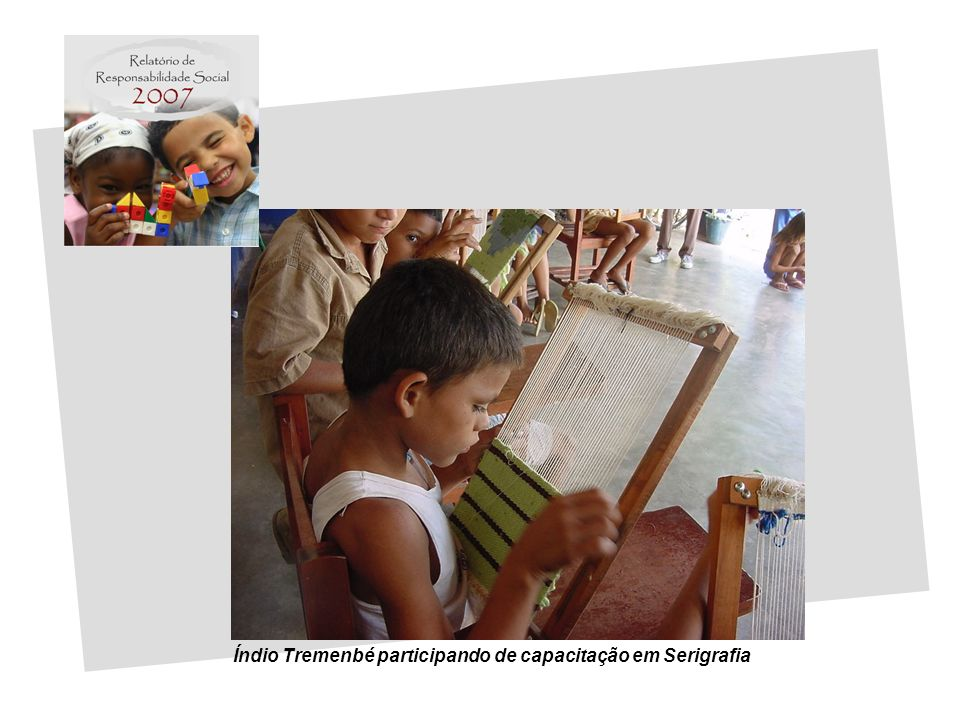 Índio Tremenbé participando de capacitação em Serigrafia
