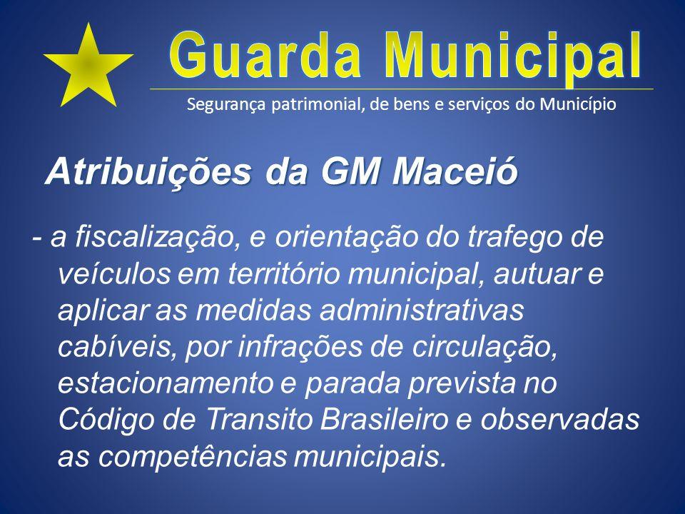 Atribuições da GM Maceió