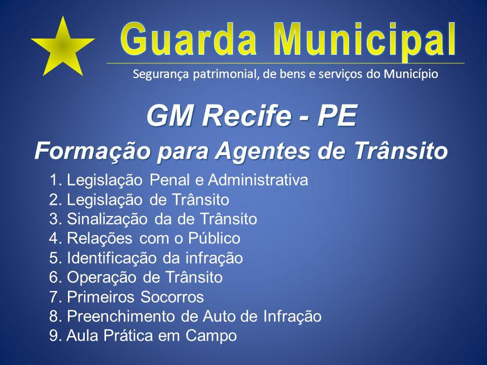 GM Recife - PE Formação para Agentes de Trânsito