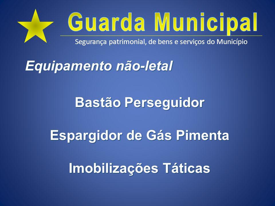 Equipamento não-letal Espargidor de Gás Pimenta Imobilizações Táticas