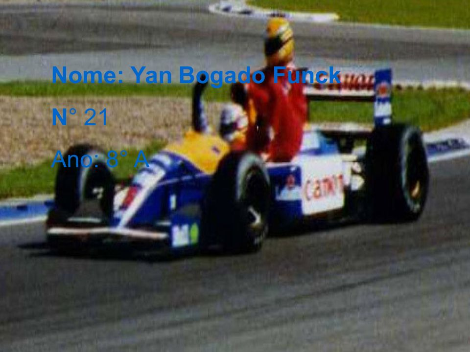 Nome: Yan Bogado Funck N° 21 Ano: 8° A