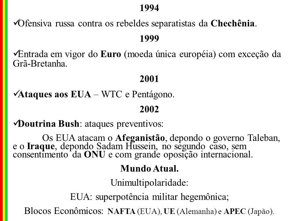 Ofensiva russa contra os rebeldes separatistas da Chechênia. 1999
