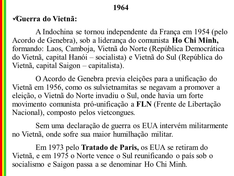 1964 Guerra do Vietnã: