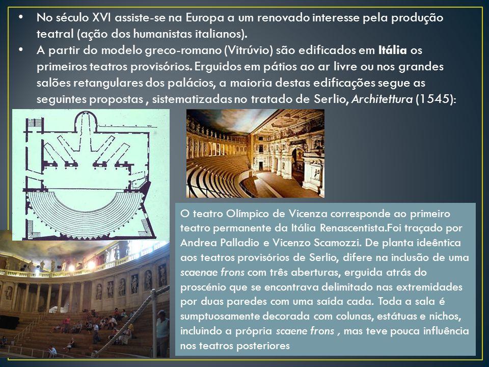No século XVI assiste-se na Europa a um renovado interesse pela produção teatral (ação dos humanistas italianos).