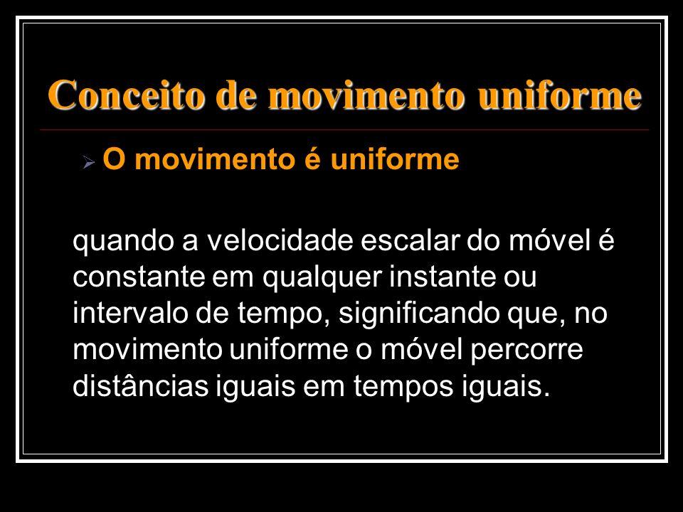 Conceito de movimento uniforme