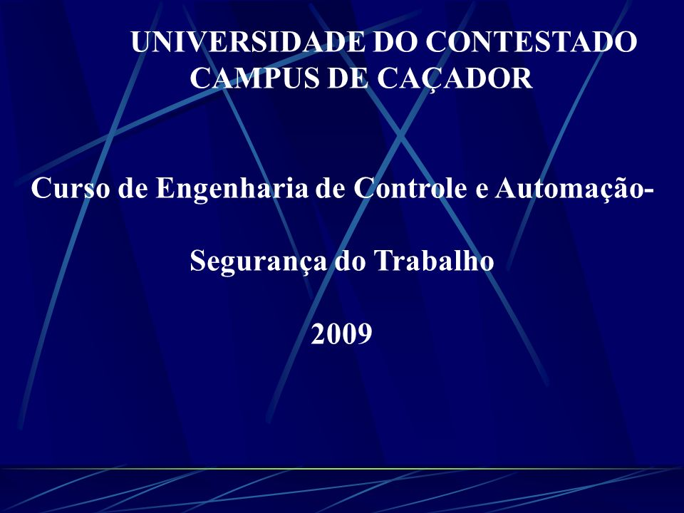 UNIVERSIDADE DO CONTESTADO CAMPUS DE CAÇADOR
