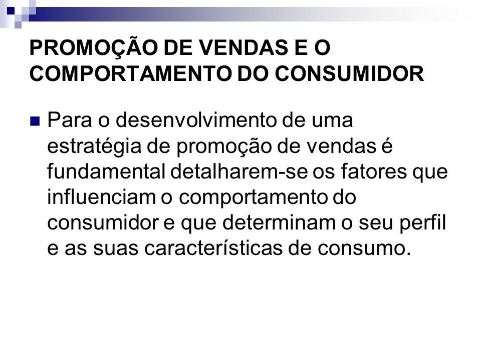 PROMOÇÃO DE VENDAS E O COMPORTAMENTO DO CONSUMIDOR