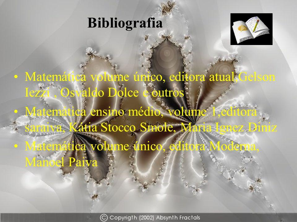 BibliografiaMatemática volume único, editora atual,Gelson Iezzi , Osvaldo Dolce e outros.