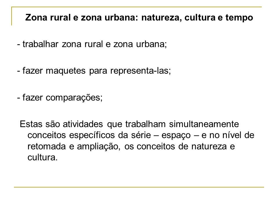 Zona rural e zona urbana: natureza, cultura e tempo