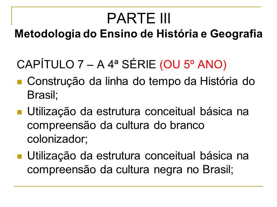 PARTE III Metodologia do Ensino de História e Geografia