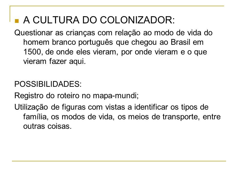 A CULTURA DO COLONIZADOR: