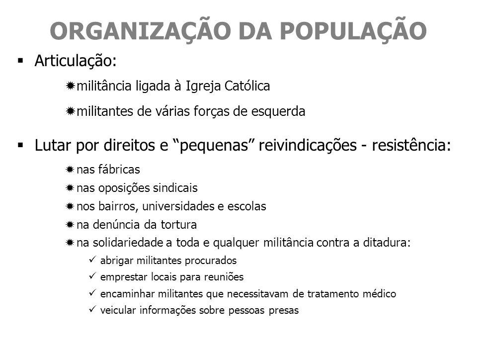 ORGANIZAÇÃO DA POPULAÇÃO
