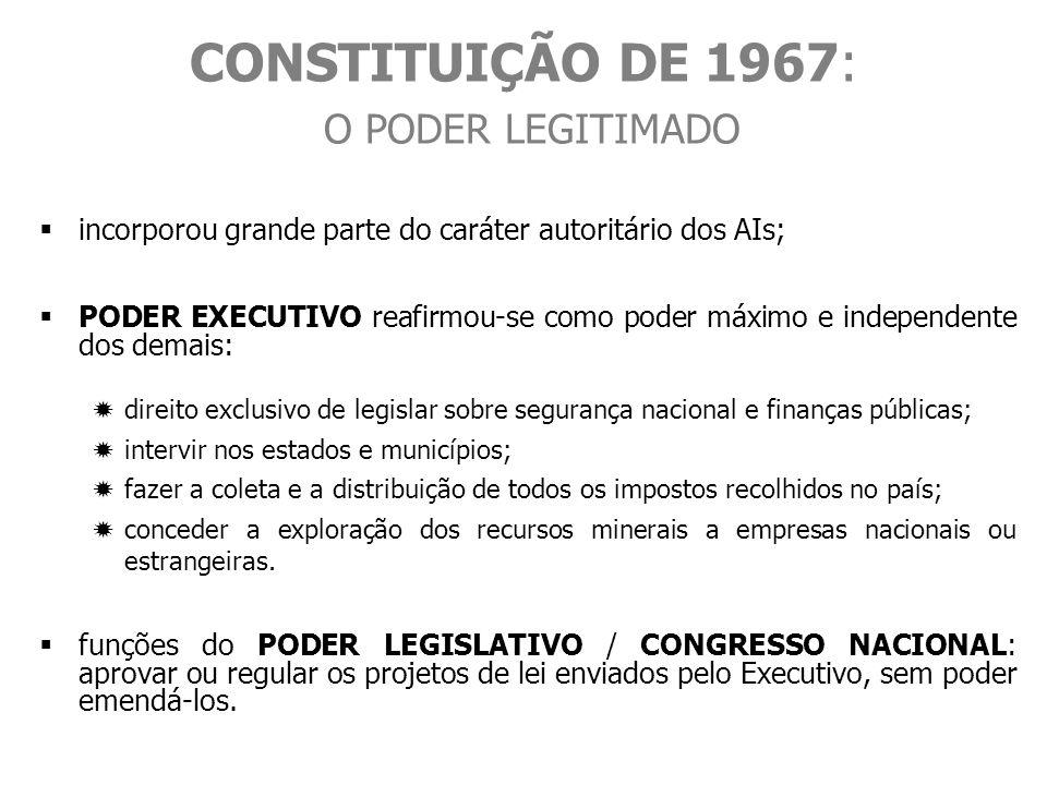 CONSTITUIÇÃO DE 1967: O PODER LEGITIMADO