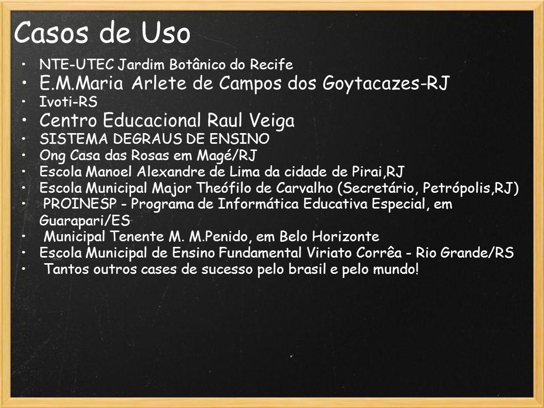Casos de Uso E.M.Maria Arlete de Campos dos Goytacazes-RJ