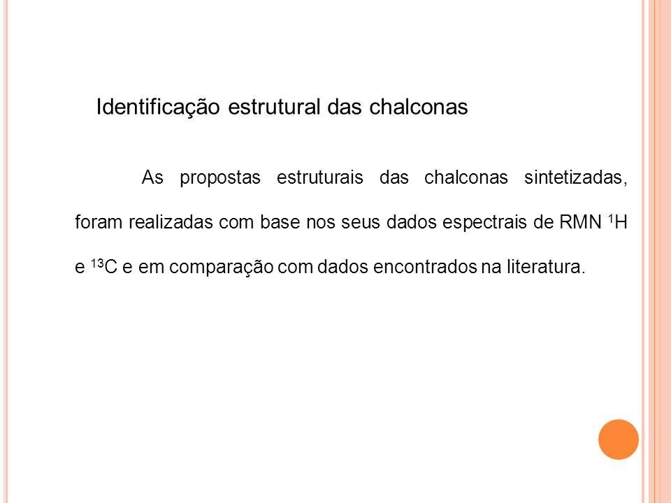 Identificação estrutural das chalconas