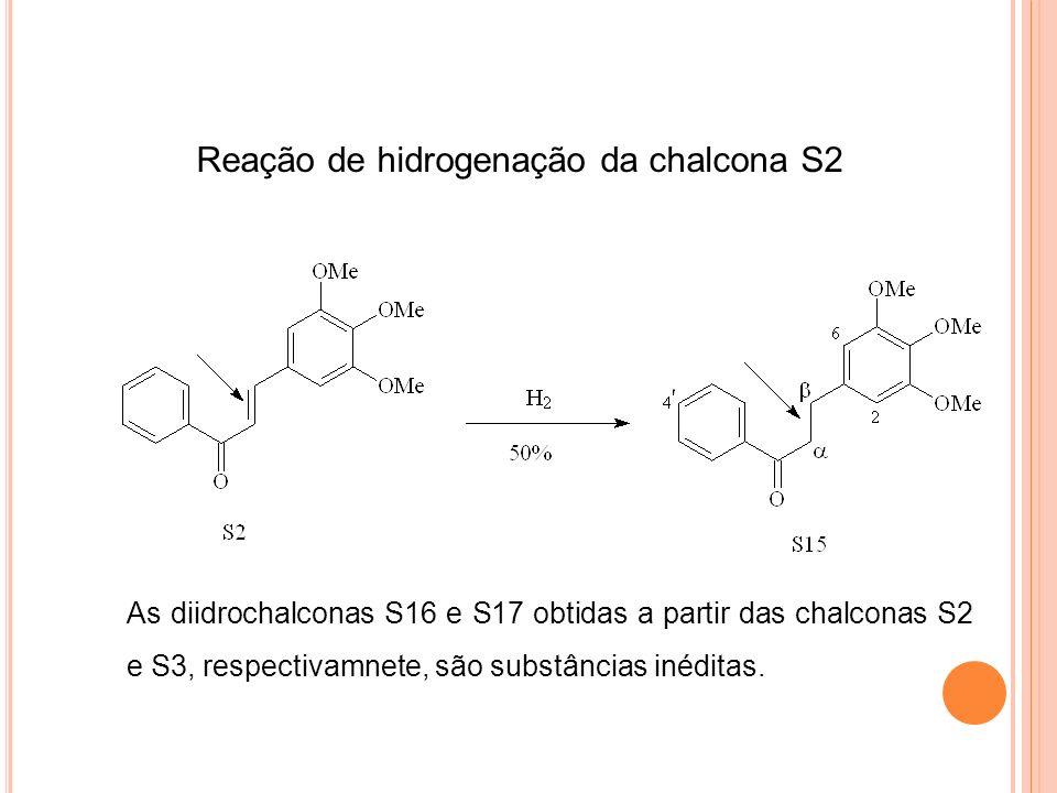 Reação de hidrogenação da chalcona S2